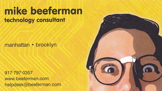 Mike Beeferman Technology Consultant Business Card